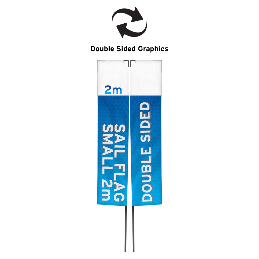 Sail Flags And Pole Double Sided