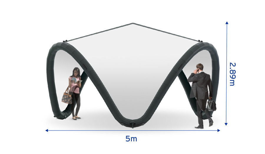 Signus ONE Unbranded Inflatable Pavilion 5m