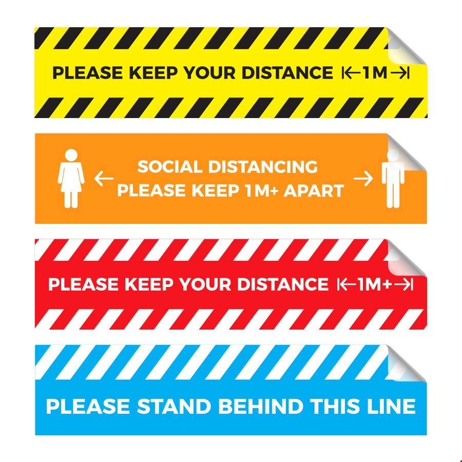 Rectangular Queue Management Floor Graphics