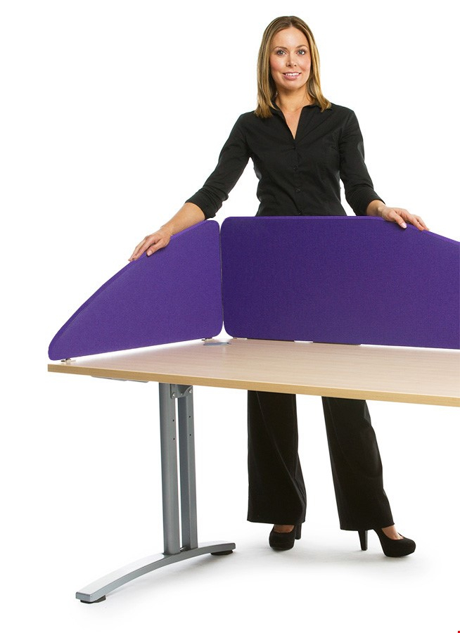 Spectrum Fabric Radius Office Desk Screen