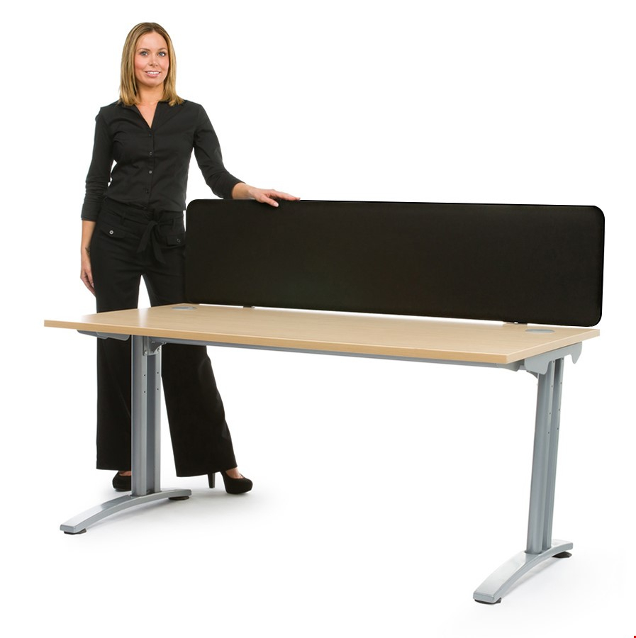 Spectrum Fabric Straight Office Desk Screen