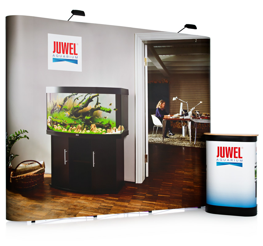 3x3 Double Sided Straight Pop Up Stand
