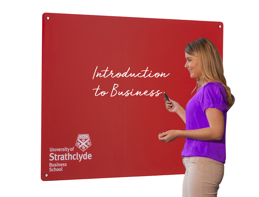 Wall Mounted Magnetic Glass Whiteboard with Printed Logo