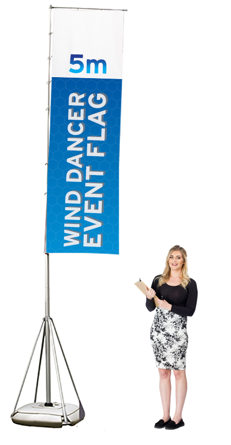 Wind Dancer freestanding outdoor flag banner