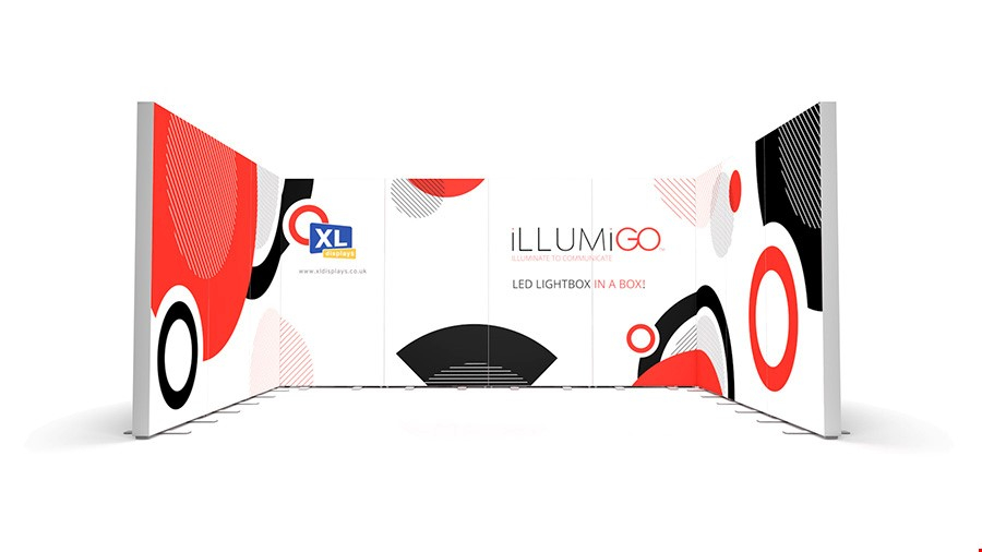 iLLUMiGO Backlit Exhibition Stands 3x4 U-Shape Booth