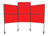 XL Standard 6 panel and pole modular display board system inc. header and carry bag