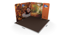 Modulate™ 3m x 3m L-Shaped Stretch Fabric Exhibition Stand