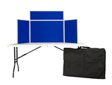 Junior tabletop display board inc. header and carry bag PVC Frame