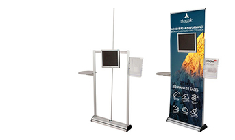 HEAVY DUTY ROLLER BANNER //POP UP //ROLL UP// EXHIBITION STAND// DISPLAY STAND pop2