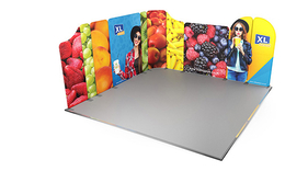 Modulate™ L-Shaped Fabric Exhibition Backwall