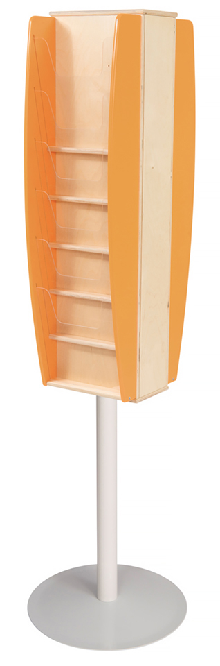Freestanding Multi Pocket Literature Stand