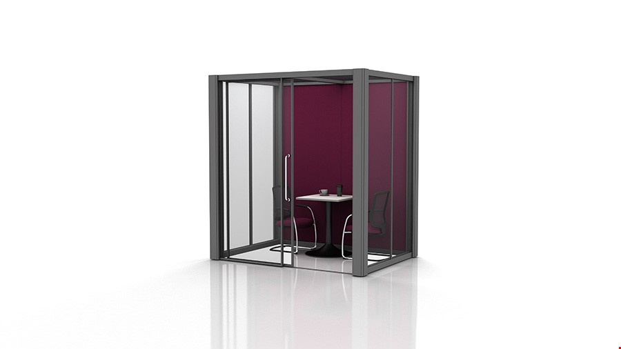2m x 1.5m Glass Office Pods