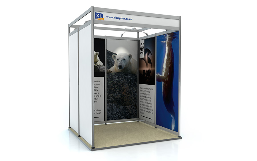 2m x 2m U-Shape Shell Scheme Exhibition Stand Foamex Graphics