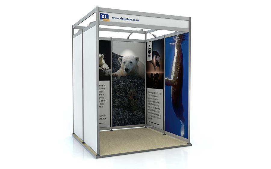 2m x 2m U-Shape Shell Scheme Exhibition Stand Foamex Graphics