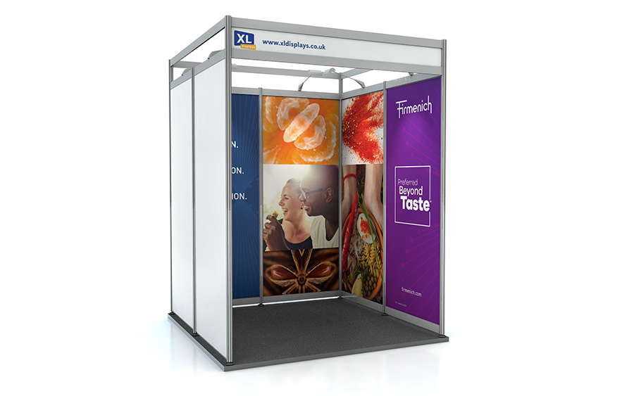 2m x 2m U-Shape Shell Scheme Exhibition Stand PVC Graphics