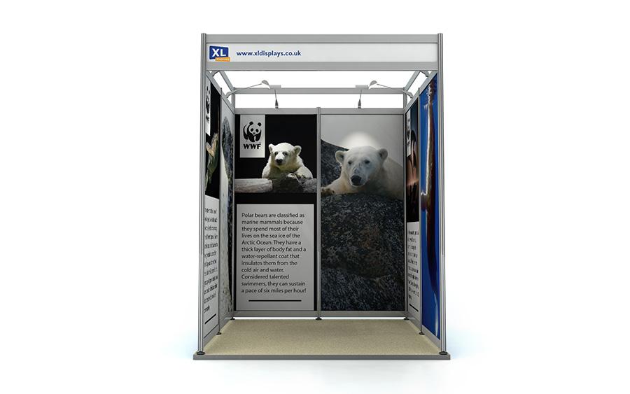 Exhibition Shell Scheme Graphics : Rigid foamex graphics shell scheme booth
