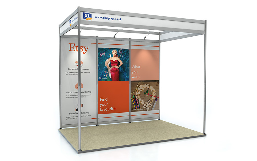 2m x 3m Shell Scheme Back Wall Exhibition Stand Foamex Graphics