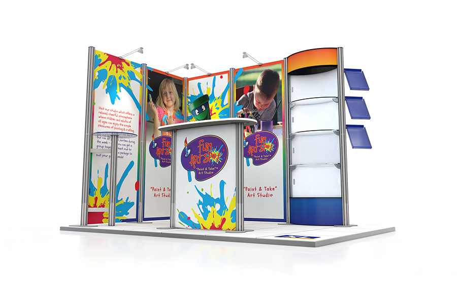 2m x 3m Centro Exhibition Stand L-Shape