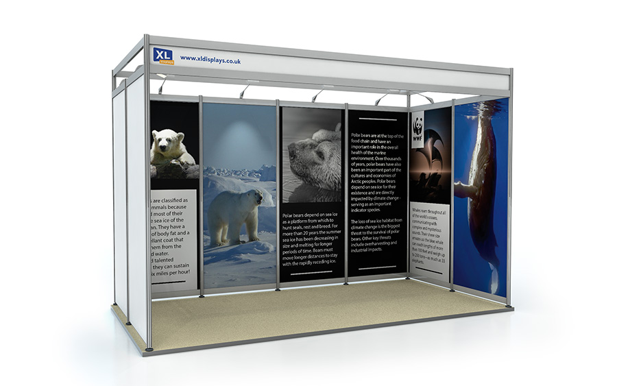 2m x 4m U-Shape Shell Scheme Exhibition Stand Foamex Graphics