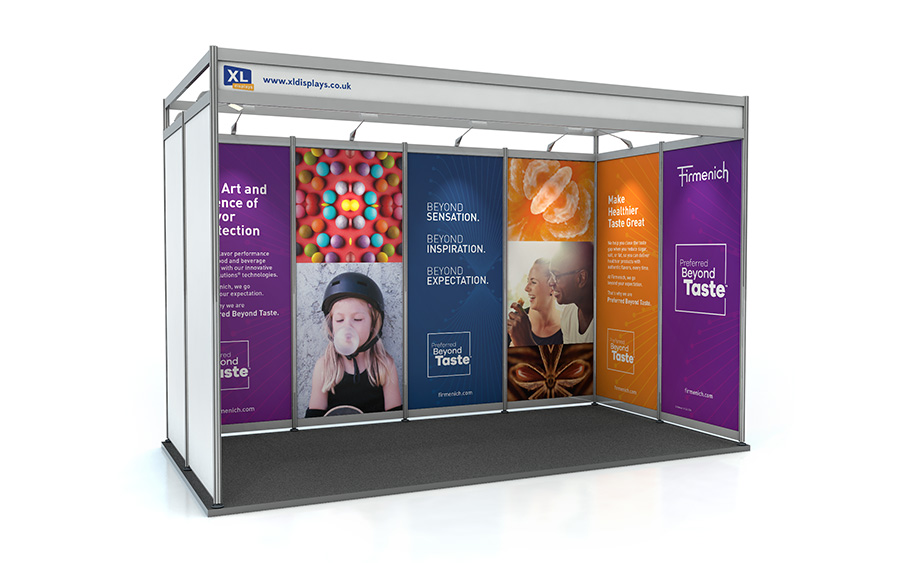2m x 4m U-Shape Shell Scheme Exhibition Stand PVC Graphics