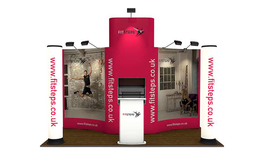 2m x 4m Linked Pop Up Exhibition Stand