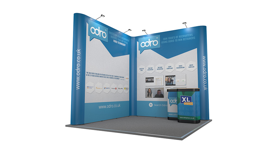 Exhibition Stand Lighting Xl : 3m x 2m backwall exhibition stand l shaped pop up stands