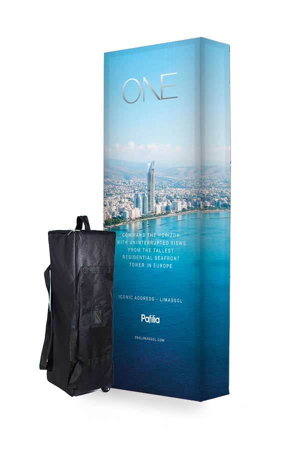 3x1 Hop Up Fabric Display Stand