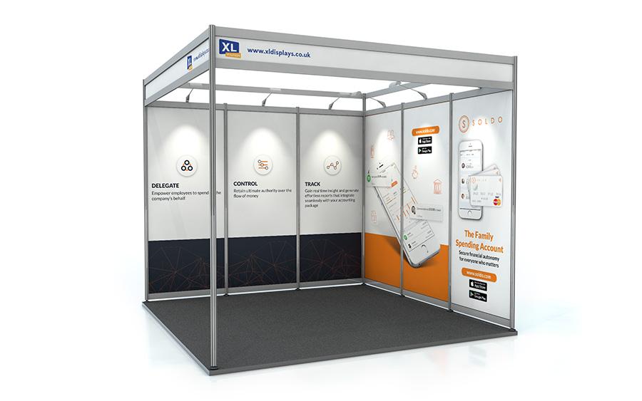 3m x 3m L-Shape Shell Scheme Panels PVC