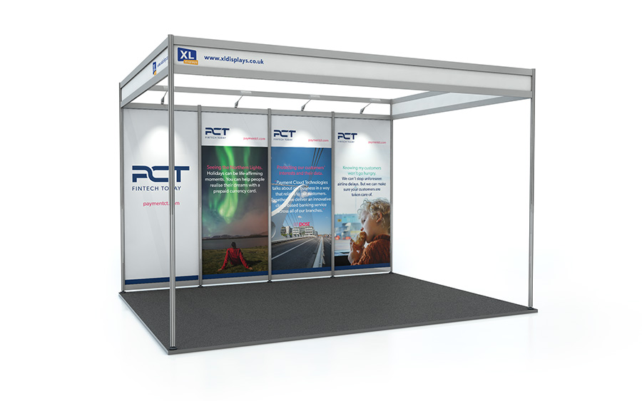 3m x 4m Back Wall Exhibition Shell Scheme Panels PVC