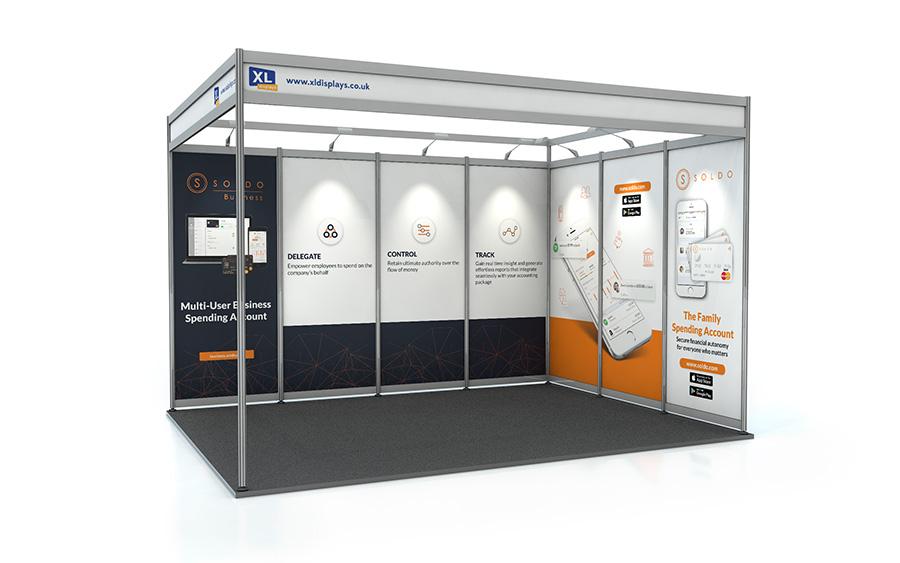 3m x 4m L-Shape Shell Scheme Panels PVC
