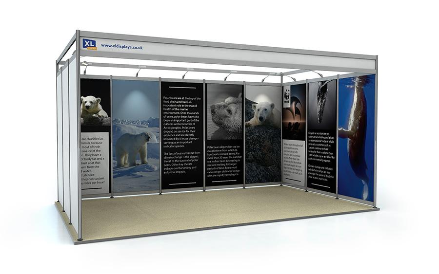 3m x 5m U-Shape Shell Scheme Exhibition Stand Foamex Graphics