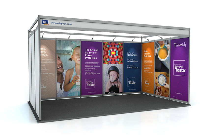 3m x 5m U-Shape Shell Scheme Exhibition Stand PVC Graphics