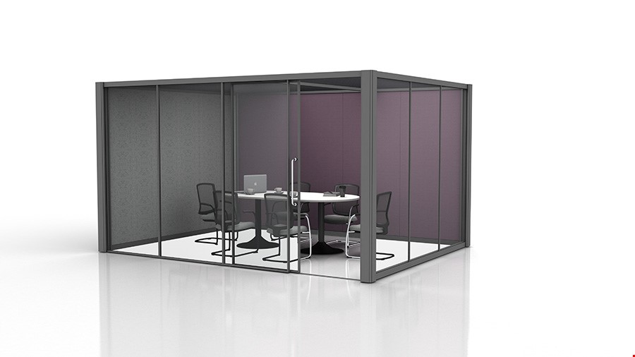 4m x 3m Glass Partition Office Pods