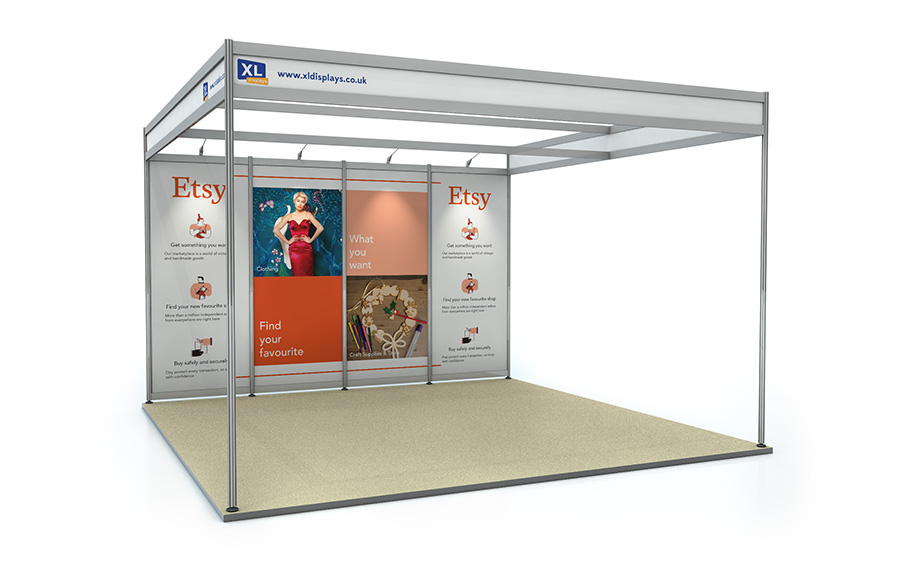 4m x 4m Back Wall Exhibition Shell Scheme Foamex Graphics