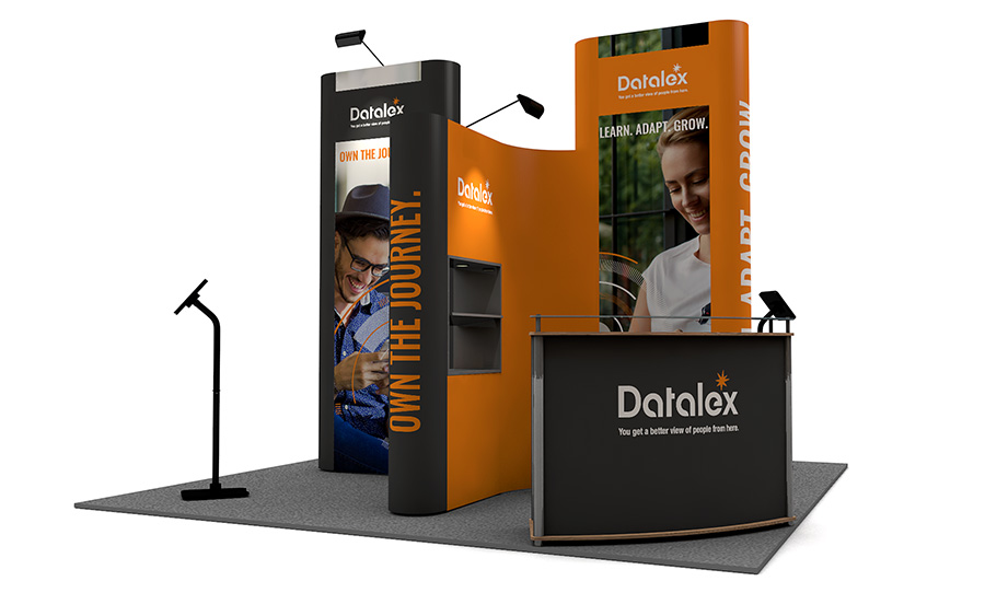 4m x 4m Island Pop Up Exhibition Stand