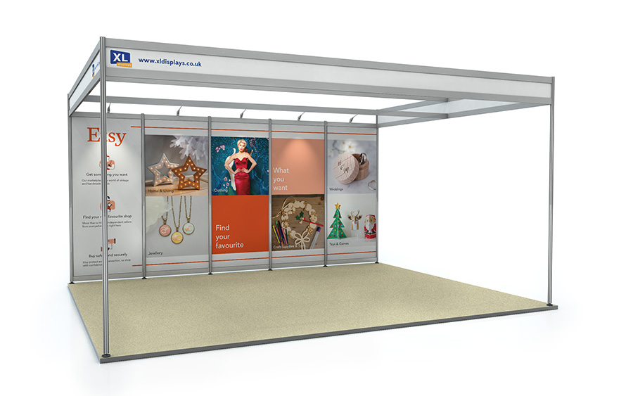 4m x 5m Back Wall Exhibition Shell Scheme Foamex Panels