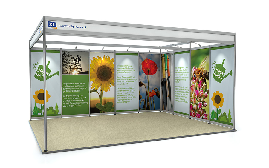 4m x 5m Exhibition Shell Scheme L-Shape Foamex Graphics