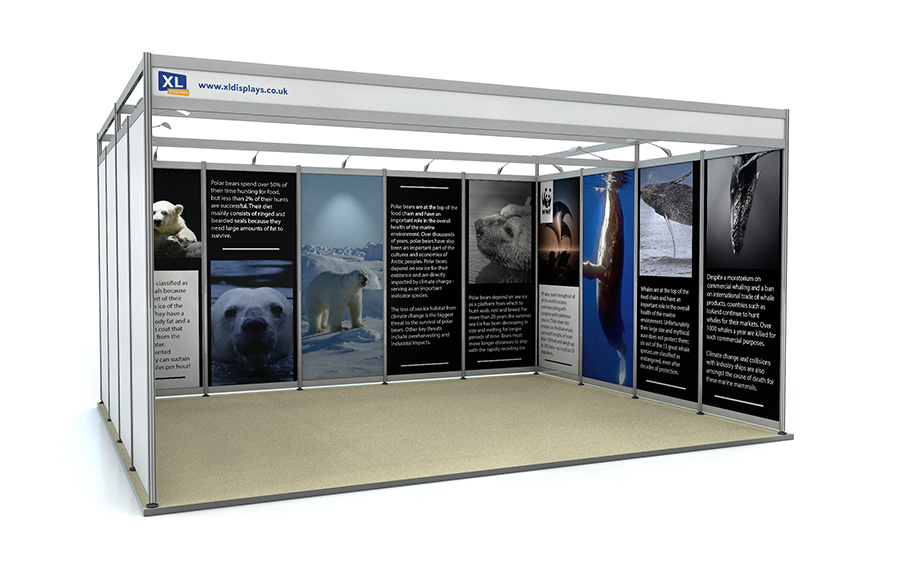 4m x 5m U-Shape Exhibition Shell Scheme Foamex Graphics