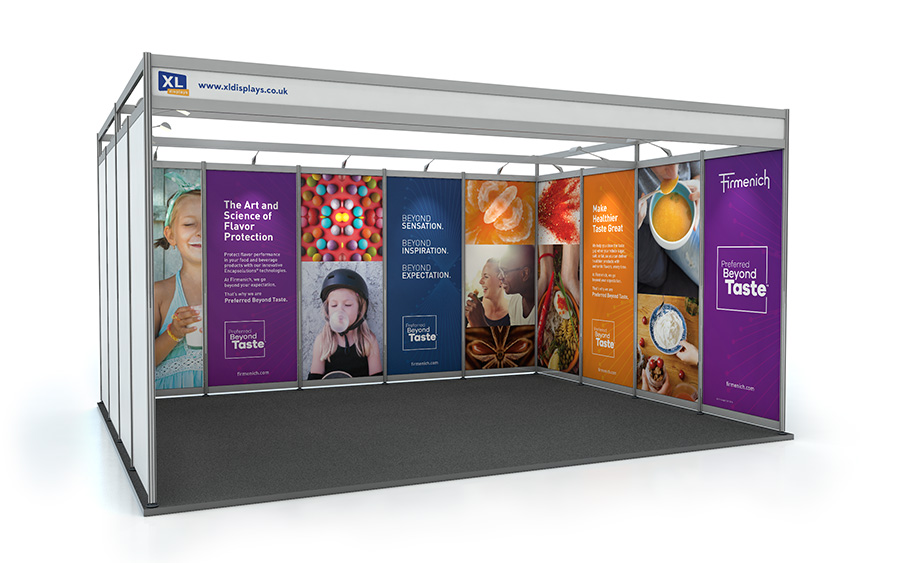 4m x 5m U-Shape Exhibition Shell Scheme PVC Graphics