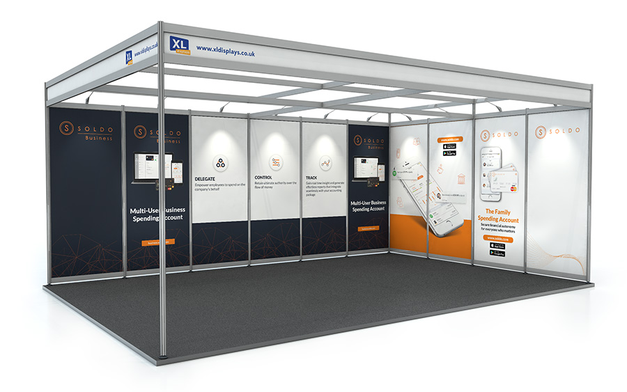 4m x 6m L-Shape Exhibition Shell Scheme PVC Graphics