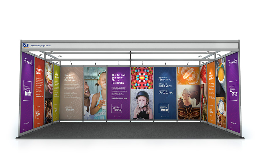 Exhibition Stand Banner : Exhibition shell scheme pvc graphic panels fast uk delivery