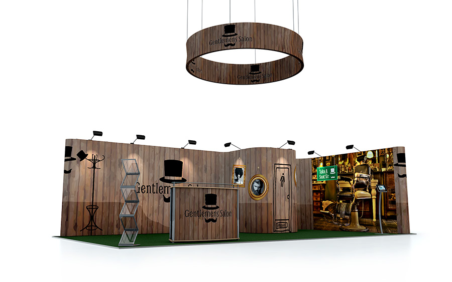 4m x 8m Linked Pop Up Exhibition Stand
