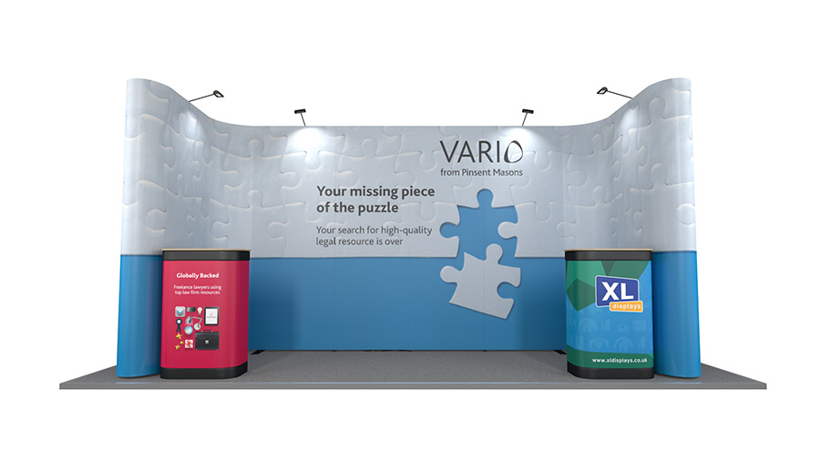 5m x 2m U-Shaped Linked Pop Up Display Stand