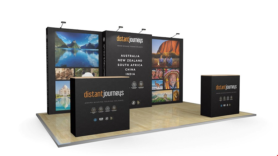 5m Stretch Fabric Exhibition Display Stand