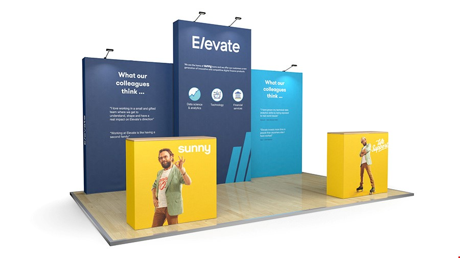 5m XL Jumbo Backwall Exhibition Stand