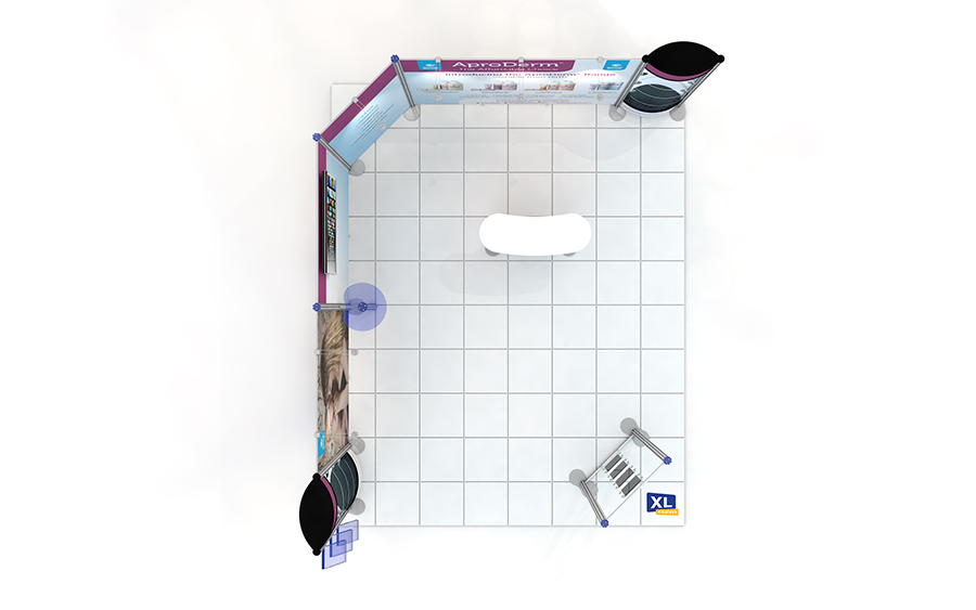Exhibition Stand Drawing : L shape centro display system modular exhibition stands uk made
