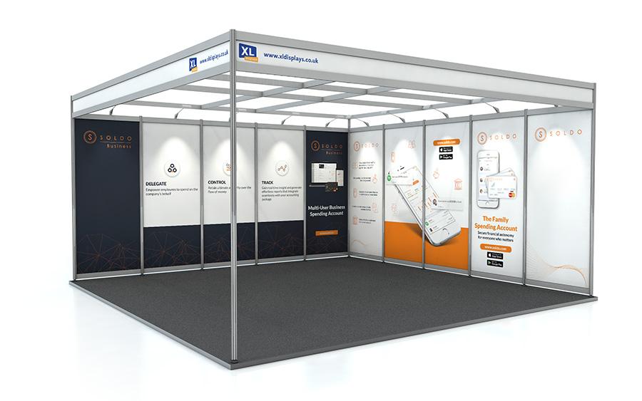 5m x 5m L-Shape Shell Scheme PVC Graphic Panels