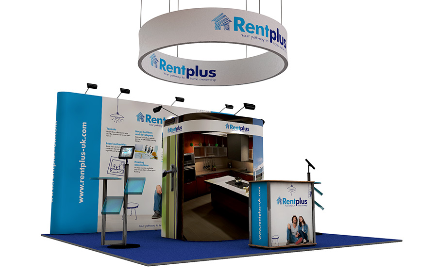 5m x 5m Island Pop Up Exhibition Stand