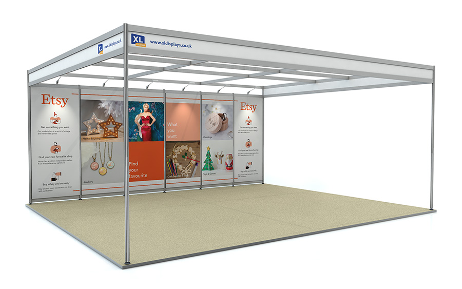5m x 6m Back Wall Exhibition Shell Scheme Foamex Graphics