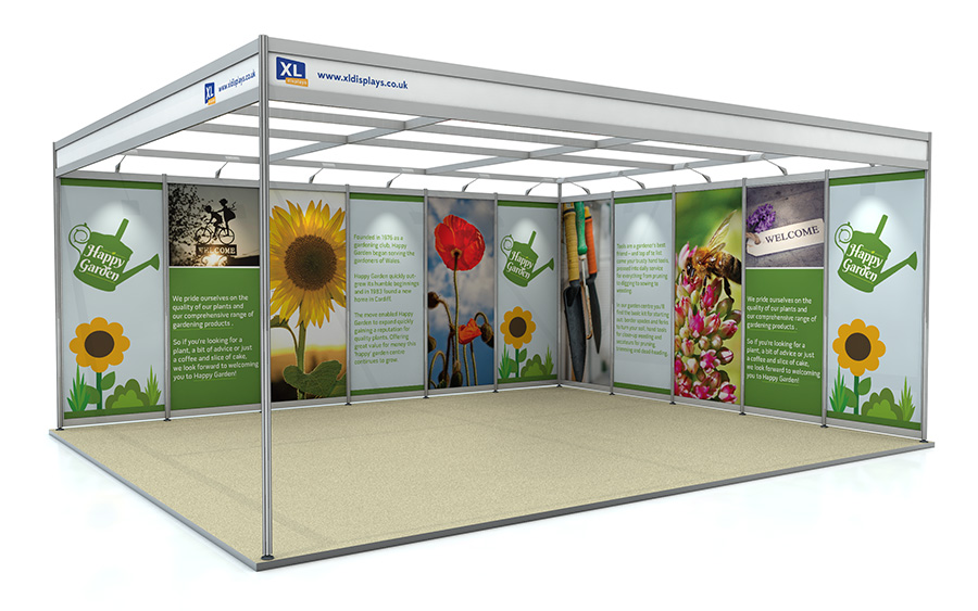 5m x 6m Exhibition Shell Scheme L-Shape Foamex Graphics